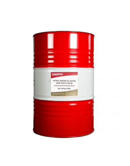 PETROL ENGINE OIL JUSTAR J500F (SN/CF) 5W-40 200L